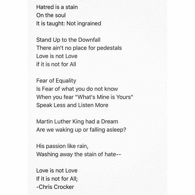 Remembering Dr Martin Luther King Jr With Poetry Peace