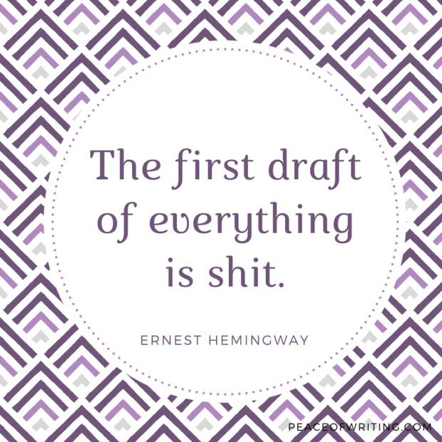 Wordy Wednesday - Hemingway on First Drafts peaceofwriting.com