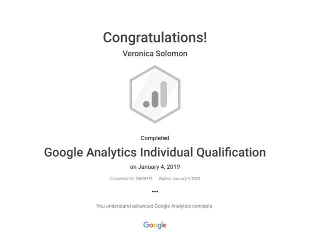 google analytics individual qualification - veronica solomon-1